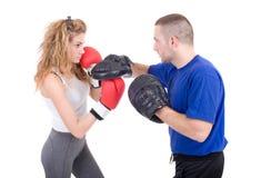 Kickboxingsmeisje royalty-vrije stock foto
