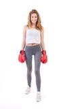 Kickboxingsmeisje stock fotografie