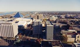 Kicken metar beskådar av centra av Memphis Royaltyfri Bild
