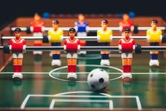 Kicker παιχνιδιών ποδοσφαίρου επιτραπέζιου ποδοσφαίρου Στοκ Φωτογραφίες