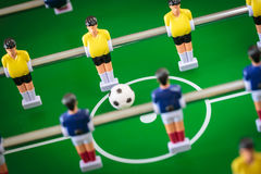 Kicker football game Stock Photos