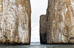 Kicker Rock Canal Royalty Free Stock Photos