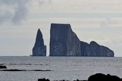 Kicker Rock in the Galapagos Islands Royalty Free Stock Images