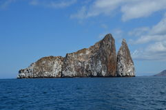Kicker Rock Galapagos. Kicker Rock Volcanic Small Island. A cliff in the middle of the ocean Royalty Free Stock Photos