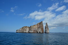 Kicker Rock Galapagos. Kicker Rock Volcanic Small Island. A cliff in the middle of the ocean Royalty Free Stock Images