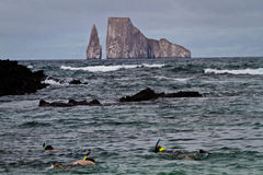 Kicker Rock Island, Galapagos Islands Stock Images