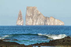 Kicker Rock (Leon dormido) in San Cristobal island Royalty Free Stock Photos