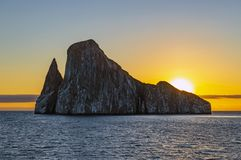 Kicker Rock SIlhouette, Galapagos Islands, Ecuador royalty free stock photos
