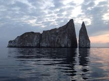 Kicker Rock during sunrise. At San Cristóbal island in the Galápagos archipelago Stock Photography