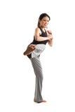 Kicking asian girl Stock Image