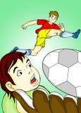Kicking ball Stock Photography