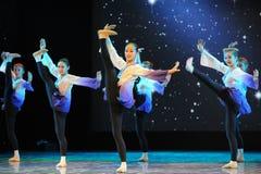Kicking-Folk dance Stock Images