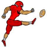 Kicking Football Player Stock Photos