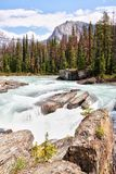 Kicking Horse River at Natural Bridge in Yoho National Park, Canada royalty free stock photography