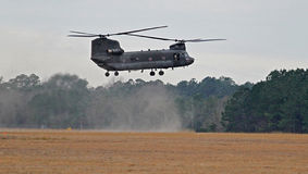 Hovering Chinook Helicopter Stock Photo