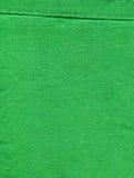 Bomullstyg texturerar - ljust - görar grön med skarv Royaltyfria Foton