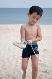 Kid. A little boy play on the beach Royalty Free Stock Image