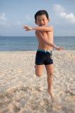 Kid. A little boy play on the beach Stock Photo