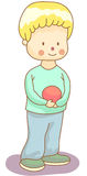 Kid. A kid with a ball for you vector illustration