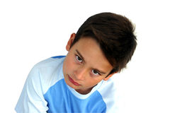 Kid. Unhappy kid Stock Photo