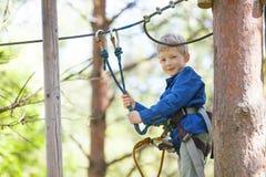 Kid at adventure park Royalty Free Stock Image