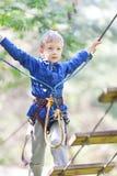 Kid at adventure park Stock Image