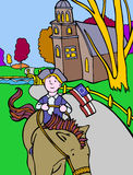 Kid Adventures: Colonial Horseman Royalty Free Stock Photo