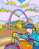 Kid Adventures: Motorcycle Ride in St. Louis Royalty Free Stock Photography