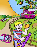 Kid Adventures: Picking Peaches in Georgia Royalty Free Stock Photography