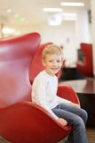 Kid at airport Royalty Free Stock Photos