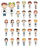 Kid Alphabet Letters Royalty Free Stock Images