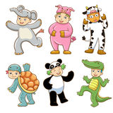 Kid with animals costume Stock Photos