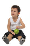 Kid and apple Royalty Free Stock Photography