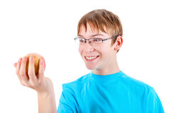 Kid with the Apple Stock Photos