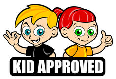 Kid Approved seal Royalty Free Stock Photo