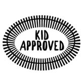 KID APPROVED stamp on white royalty free illustration