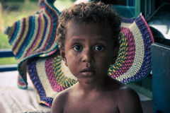 The kid of Arborek village,Raja Ampat,Indonesia. Stock Photos