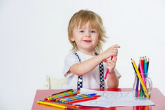 Kid and art education Stock Image