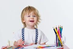 Kid and art education Stock Photos