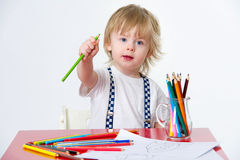 Kid and art education Stock Images