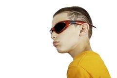 Kid with an attitude stock photo