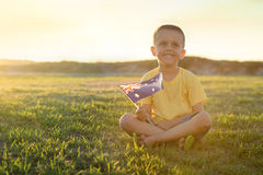 Kid with Australian Flag Royalty Free Stock Photo