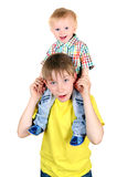 Kid and Baby Boy Royalty Free Stock Photos