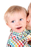 Kid and Baby Boy Stock Image
