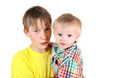 Kid and Baby Boy Royalty Free Stock Photography