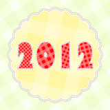 Kid background 2012. Fabric new year background for 2012 stock illustration