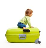 Kid and baggage Royalty Free Stock Photography