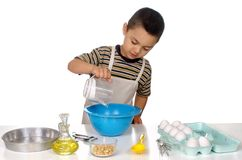 Kid baking Royalty Free Stock Images