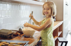 Kid Baking Cooking Cookies Fun Concept Stock Photo