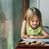Kid Baking Cooking Cookies Fun Concept Royalty Free Stock Photos